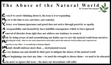 Abuse of the Natural World